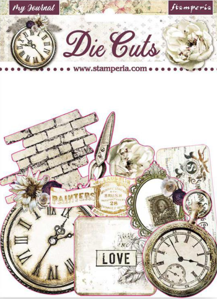 Romantic Collection - Journal die cut pack Stamperia