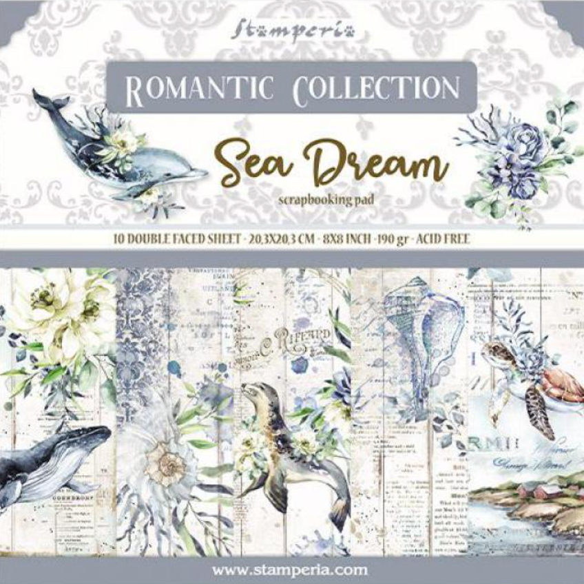 Romantic Collection - Sea Dream 8 x 8 paper pad Stamperia