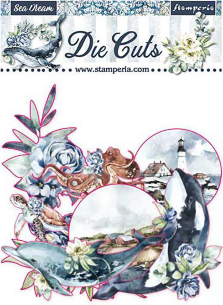 Romantic Collection - Sea Dream die cut pack Stamperia