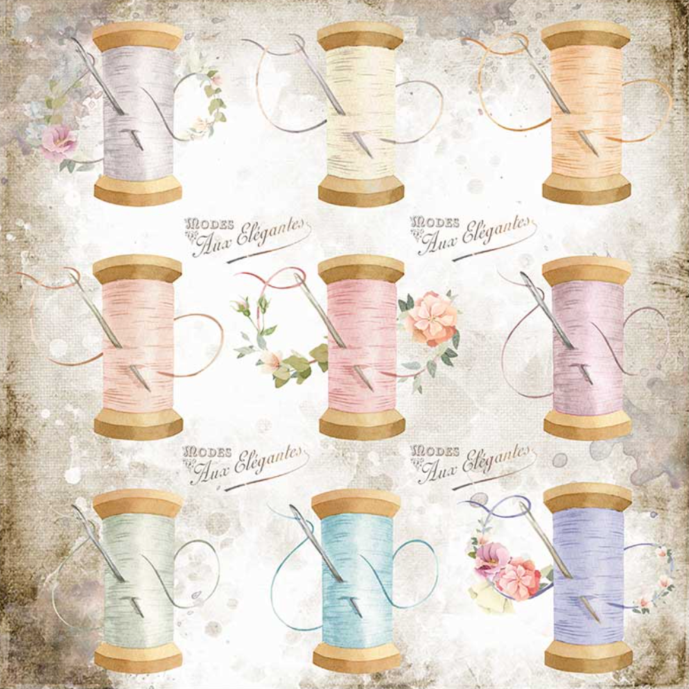 Romantic Collection - Threads 8 x 8 Paper Pad Stamperia