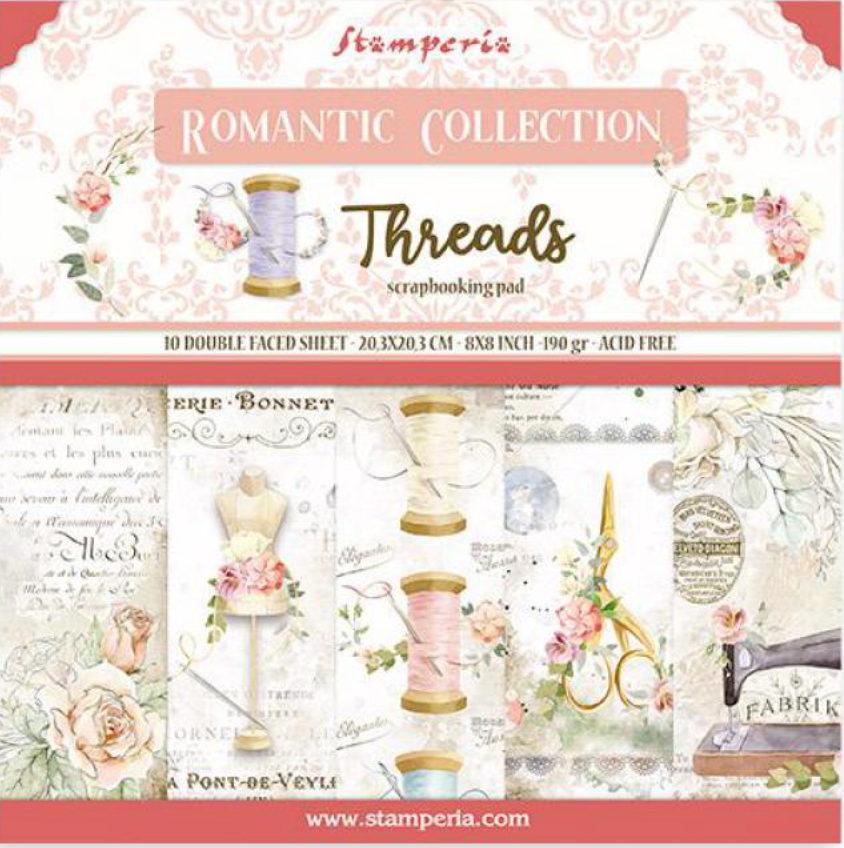 Romantic Collection - Threads 8 x 8 Stamperia