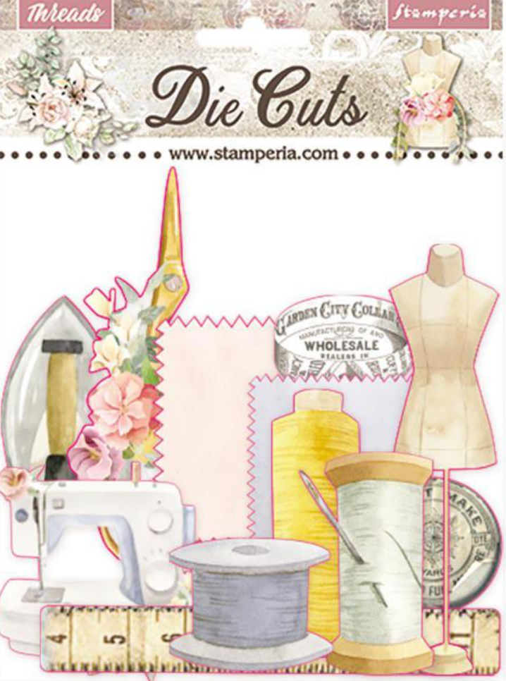 Romantic Collection - Threads die cut pack Stamperia