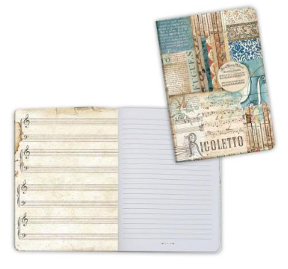 Notebook A6 - Music Rigoletto
