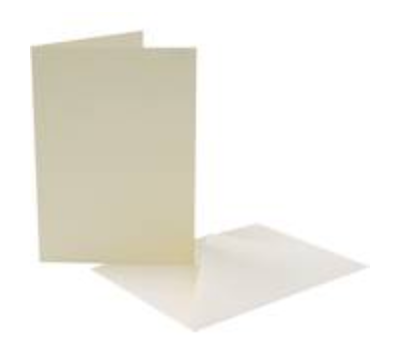 7 x 5 Card Blanks and Envelopes Ivory 50 pack