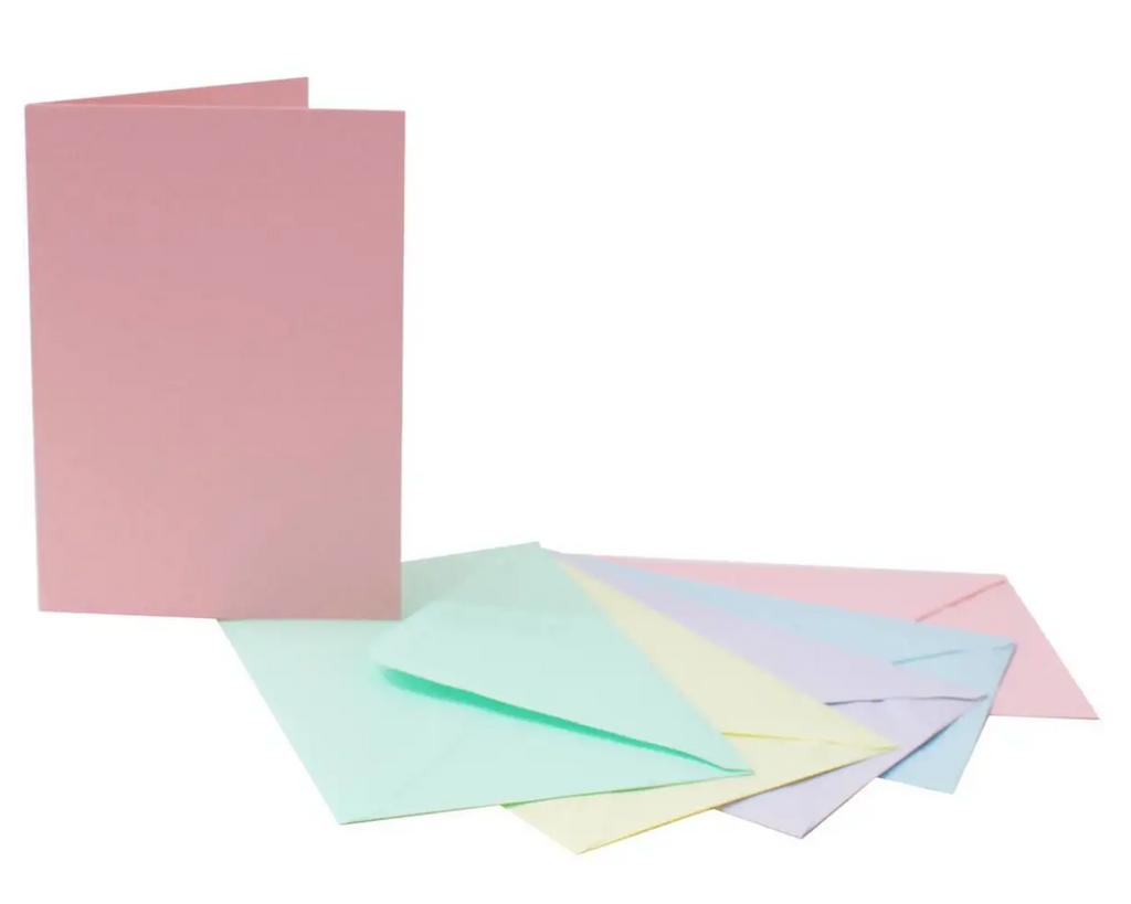 7 x 5 Card Blanks and Envelopes Pastel 40 pack