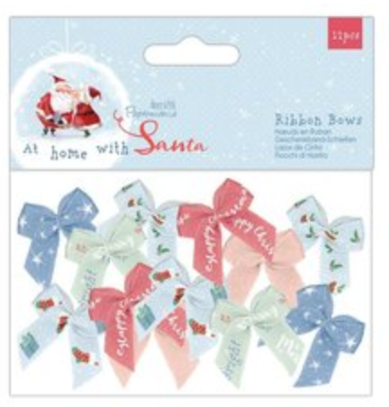 At Home with Santa Ribbon Bows - Papermania