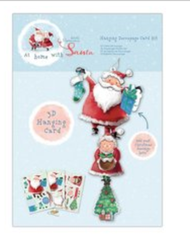 At Home with Santa Hanging Decoupage Card Kit - Papermania