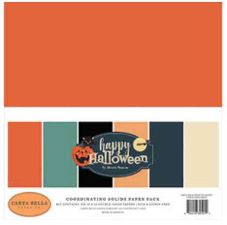 Carta Bella Happy Halloween 12 x 12 Coordinating Solids Pack