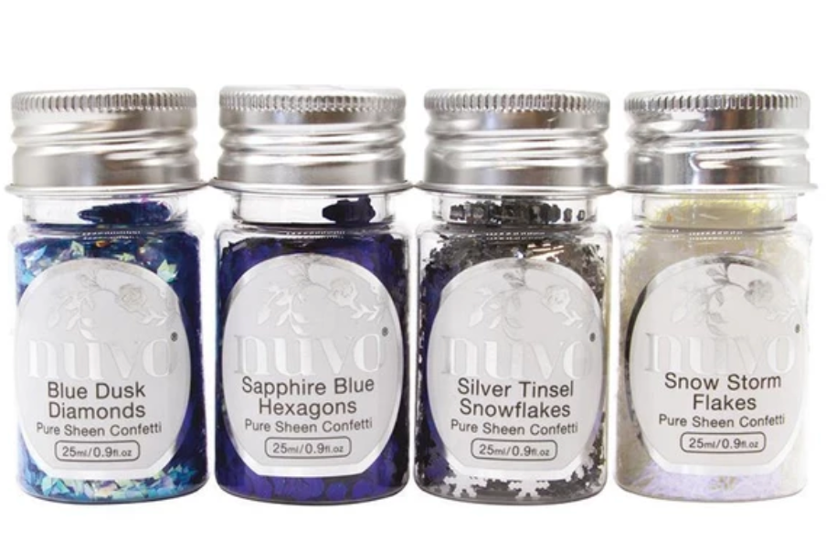 Nuvo Pure Sheen Let it Snow Confetti 4 Pack