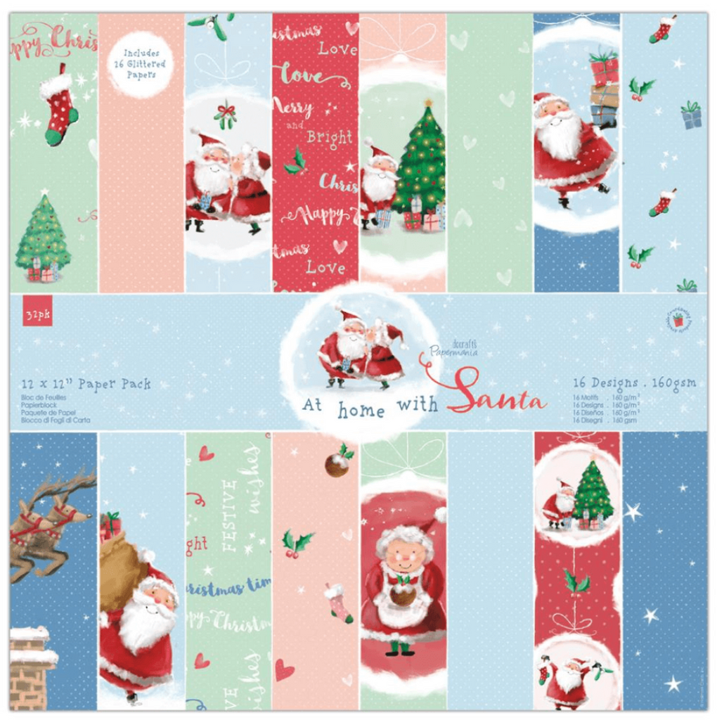 At Home with Santa 12 x 12 Paper Pack - Papermania