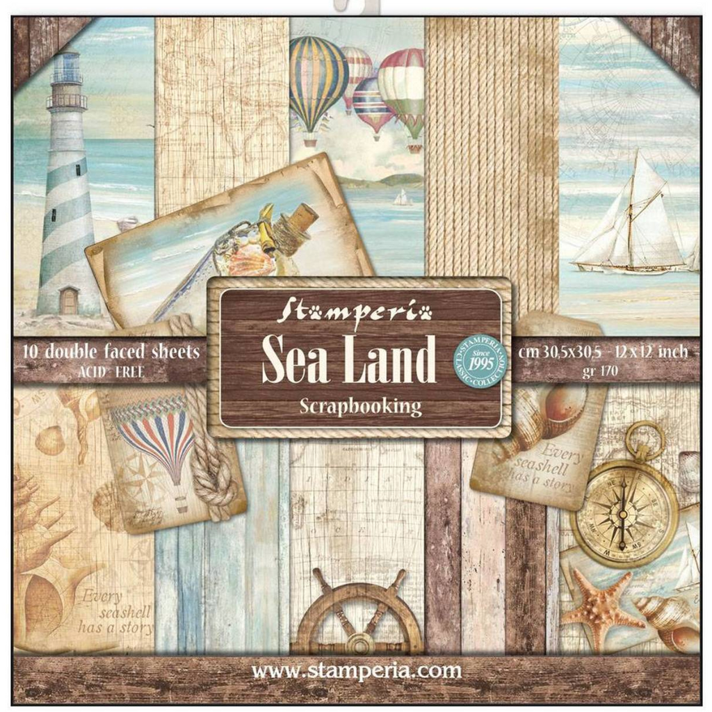 Sea Land 12 x 12 Paper Pad - Stamperia