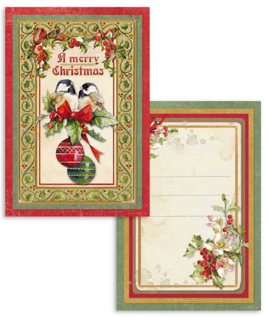 Vintage Christmas Scrapbooking Cards - Stamperia