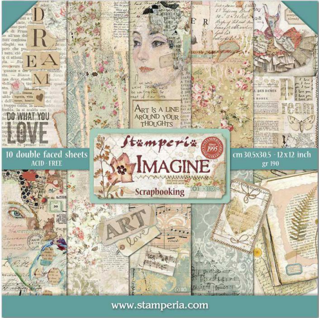 Imagine 8 x 8 Paper Pad by Stamperia