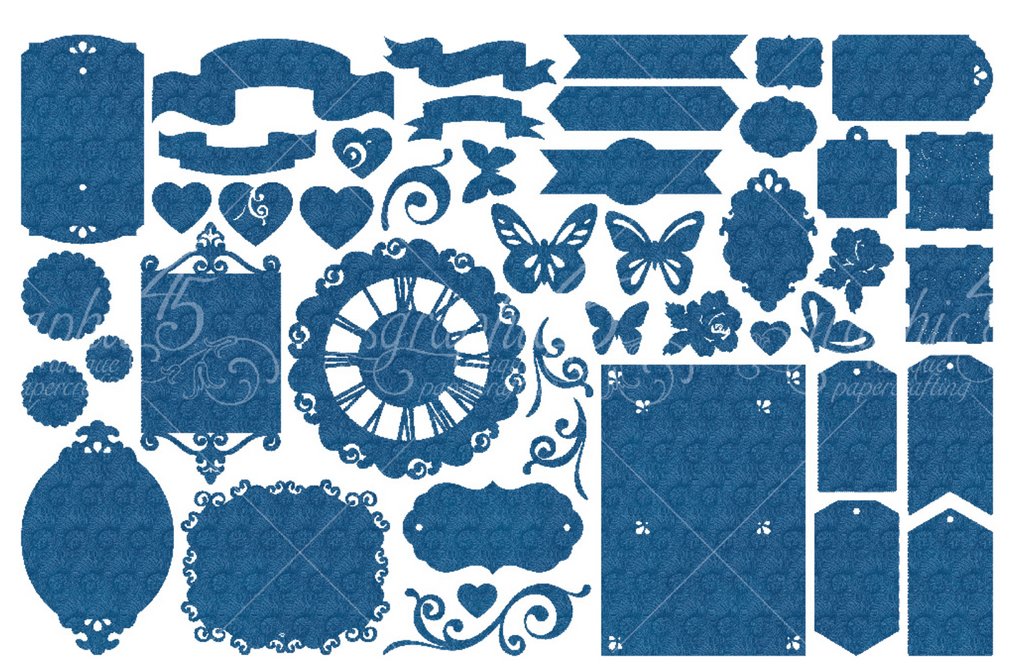 Ocean Blue Die Cut Assortment