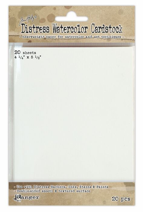 Tim Holtz Watercolour Cardstock - 20 pack