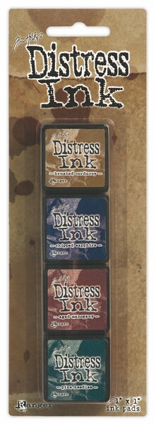 Tim Holtz Distress Mini Ink Pad Kit - Set 12