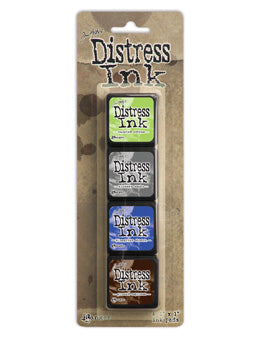 Tim Holtz Distress Mini Ink Pad Kit - Set 14