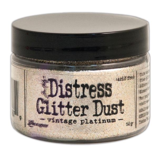 Tim Holtz Distress Glitter Dust - Vintage Platinum