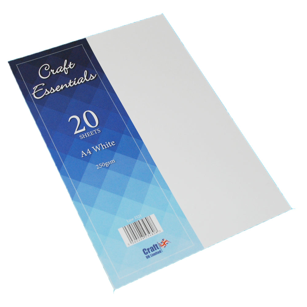 A4 White Card 225gsm - Pack of 20