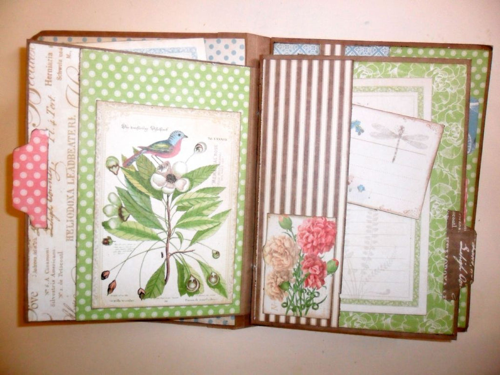 Botanical Tea Junque Journal PDF Tutorial