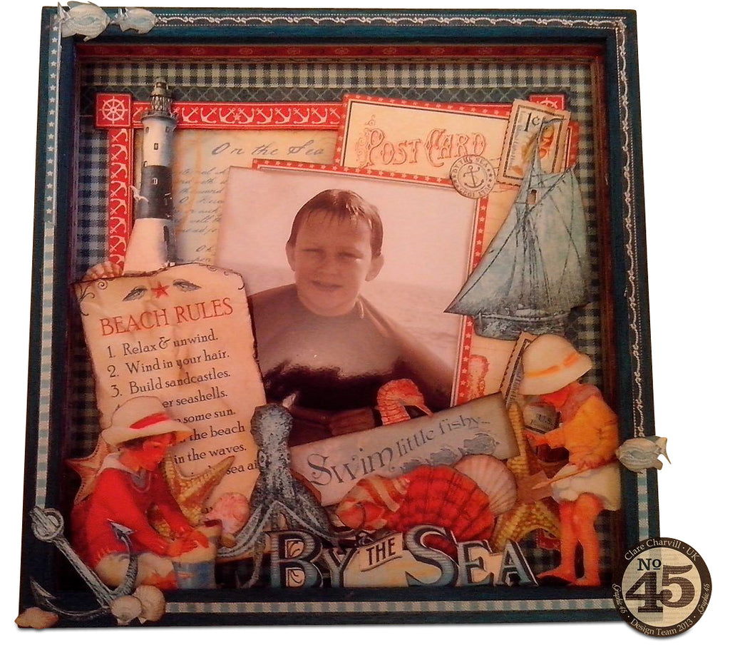 By the Sea Altered Box Frame PDF Tutorial