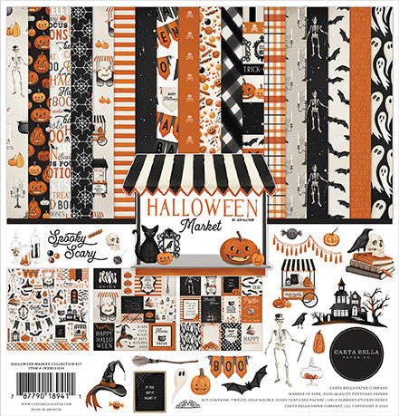 Halloween Market 12 x 12 Collection Kit Carta Bella