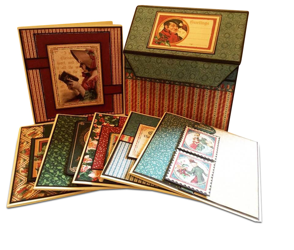 Christmas Carol Box of Cards PDF Tutorial