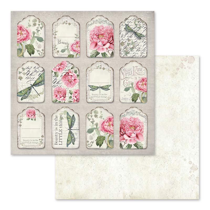 Stamperia Letters and Flowers 12 x 12 Paper Pad