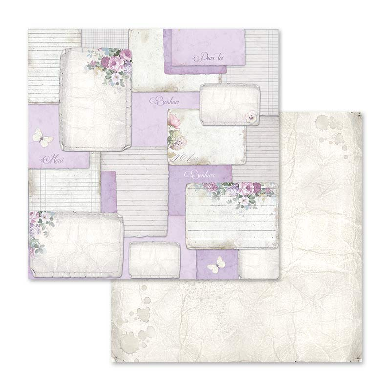 Stamperia Lilac Flowers 12 x 12 Paper Pad