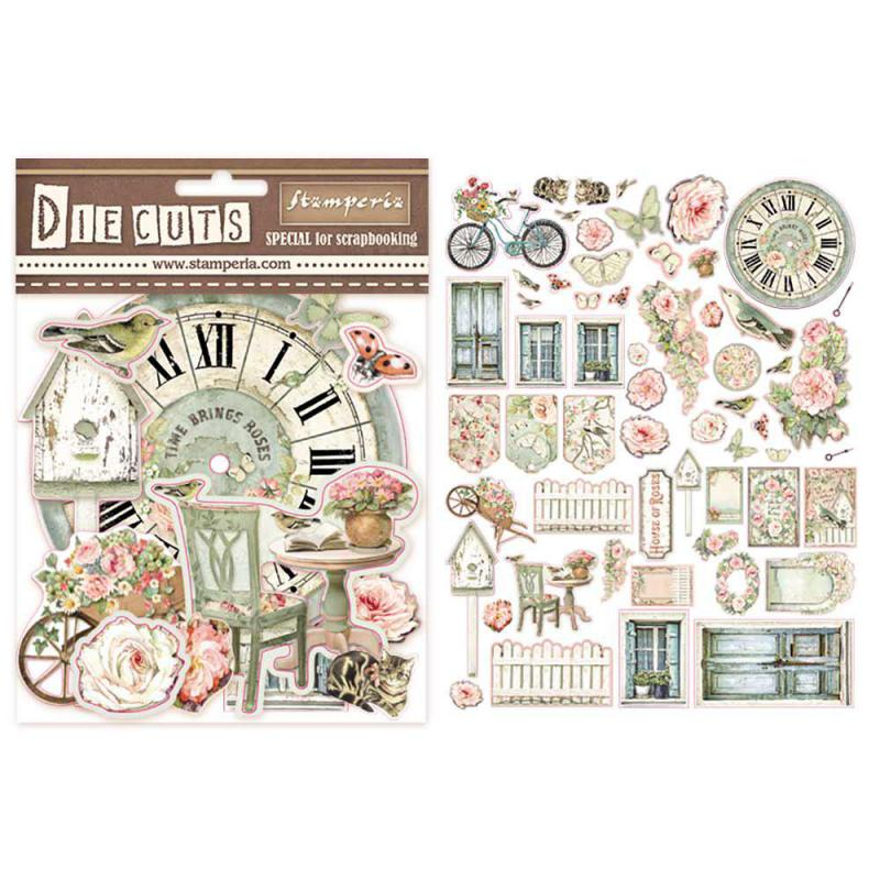 Stamperia House of Roses Die Cuts