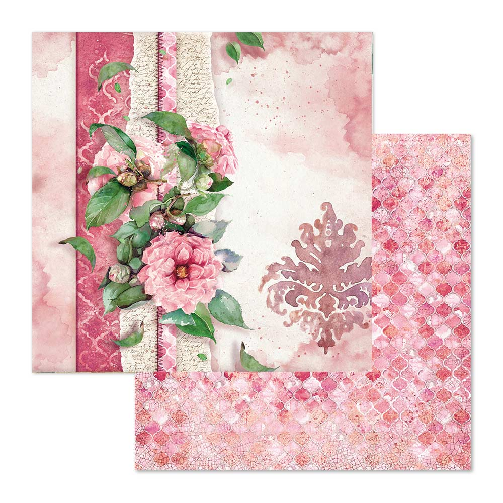 Stamperia Flowers For You 8 x 8 Paper Pad