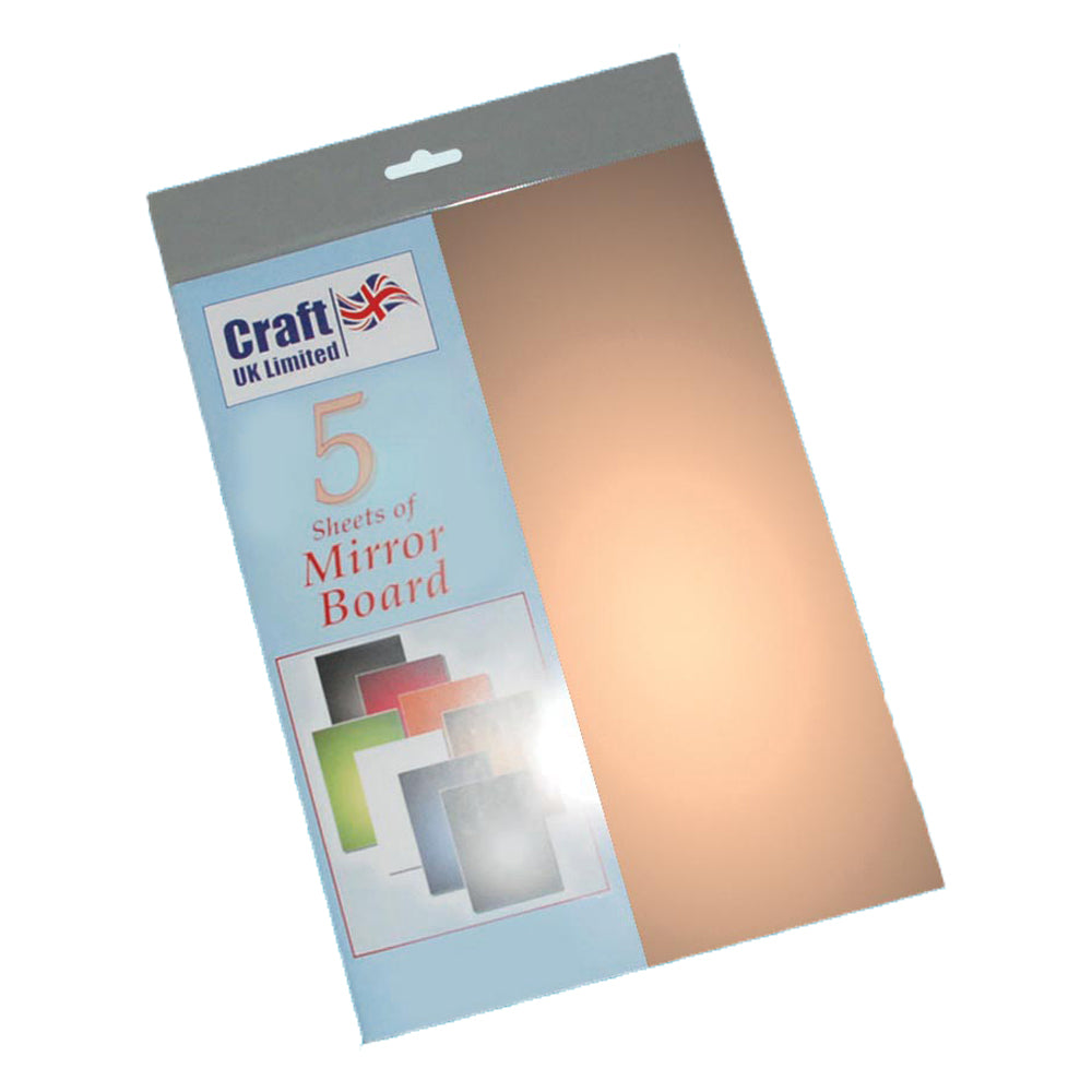 Gold A4 Mirror Board 5 pack