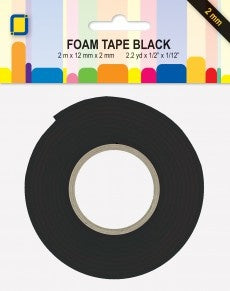 JEJE Foam Tape 2 mtr x 12 mm x 2 mm - Black