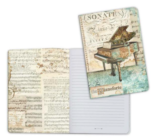 NOTEBOOK A5 - MUSIC PIANO