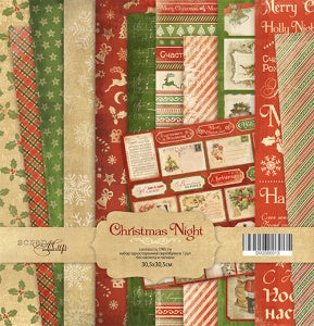 Christmas Night 12 x 12 Paper Pack - Scrapmir