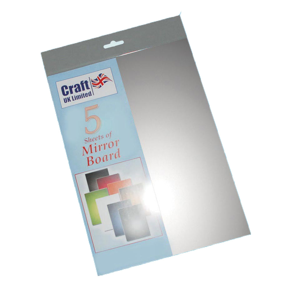 Silver A4 Mirror Board 5 pack