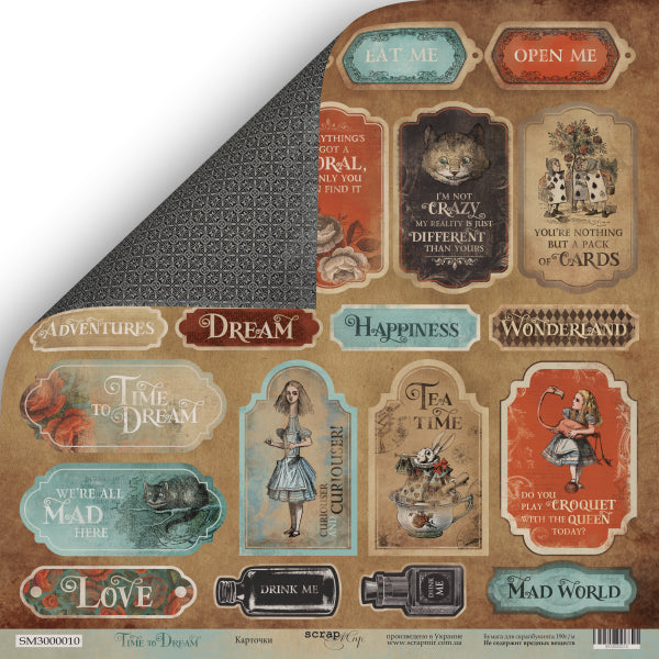 Time to Dream 12 x 12 Tags and Banners paper - Scrapmir