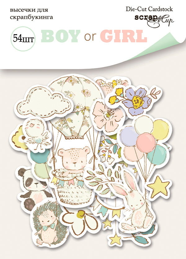 Boy or Girl Die Cut Pack - Scrapmir