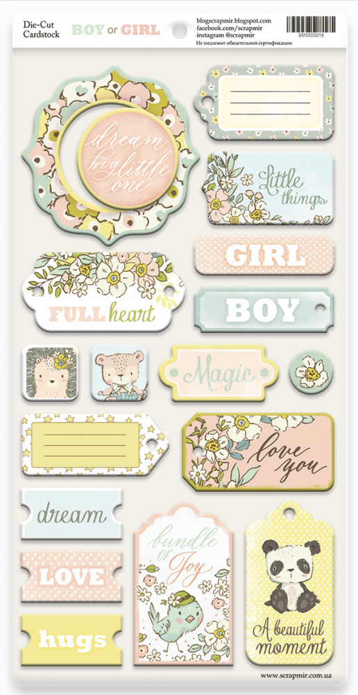 Boy or Girl Chipboard - Scrapmir