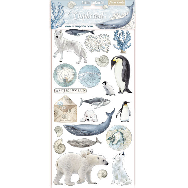 Arctic Antarctic Chipboard