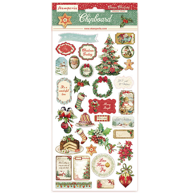Classic Christmas Chipboard Stamperia