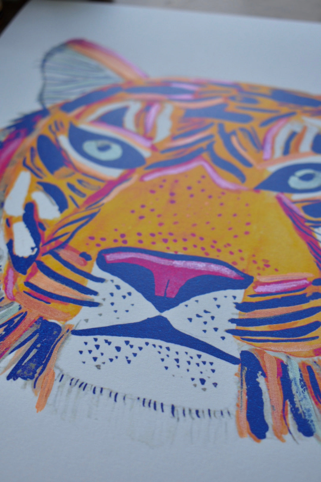 Tiger Spirit Animal - Limited Edition Hand Detailed Print *Numbered