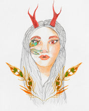 "Load image into Gallery viewer, Deer Woman - 11x14"" Print"