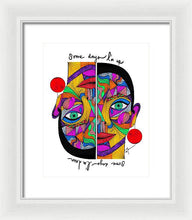 Load image into Gallery viewer, Some days I'm up, some days I'm down  - Framed Print