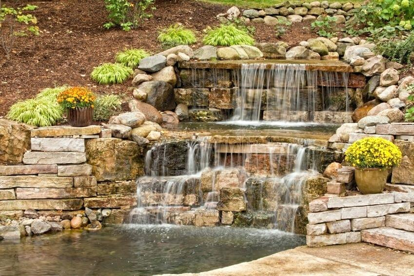 Add Ambiance To Your Pond With A Waterfall