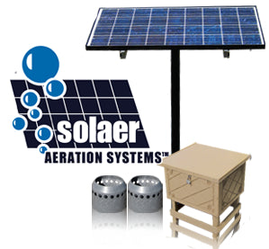 Solar Powered Pond Aerators & Systems