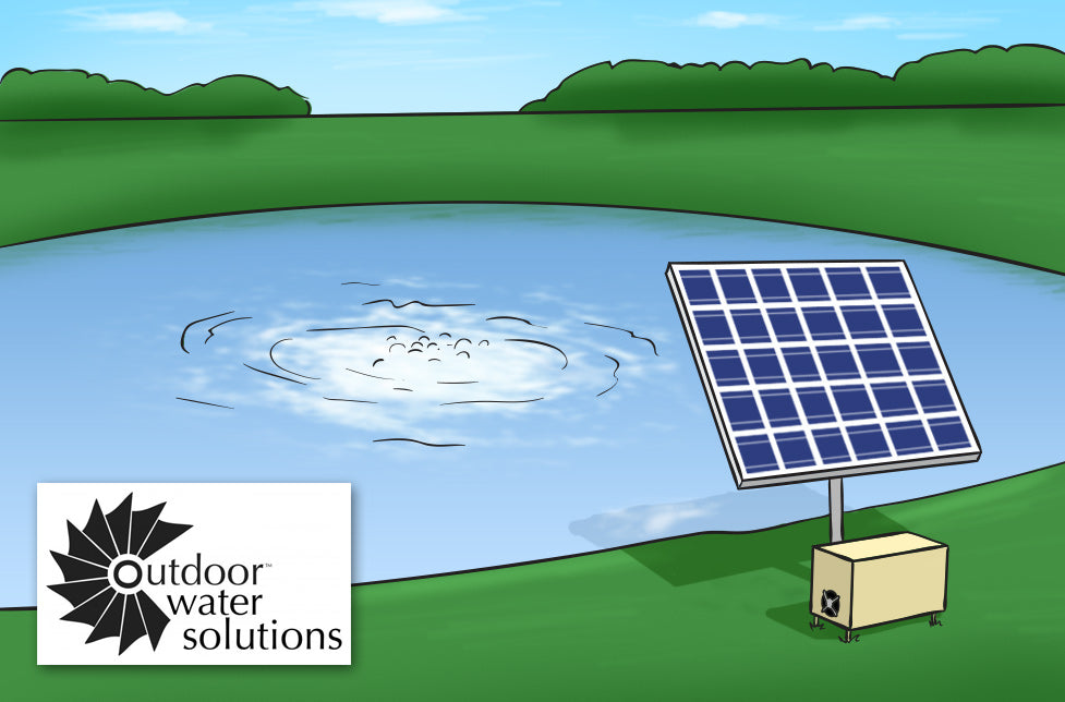 outdoor water solutions solar pond aerators