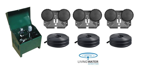 AirPro Deluxe Pond Aerator Kit - up to 3 Acre Ponds - Living Water Aeration
