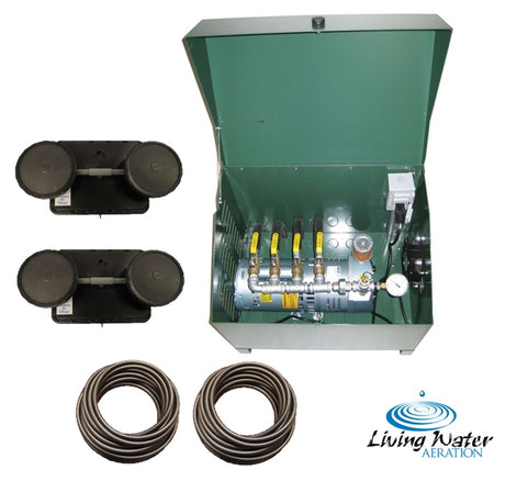 AirPro 1/4 HP Rotary Vane Pond Aerator Kit - 1 to 2 Acre Ponds