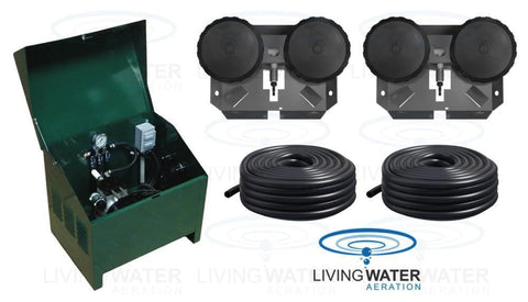 AirPro Deluxe Pond Aerator Kit - up to 2 Acre Ponds - Living Water Aeration